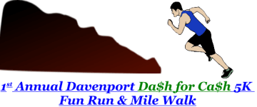 Davenport Dash for Cash 5K registration logo