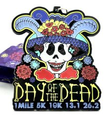Day of the Dead 1M 5K 10K 13.1 26.2 registration logo