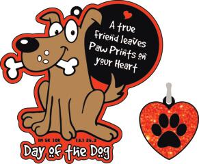 Day of the Dog 1M 5K 10K 13.1 and 26.2 registration logo