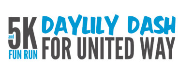 Daylily Dash 5K and Fun Run for United Way registration logo