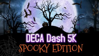 DECA Dash 5K- Spooky Edition registration logo