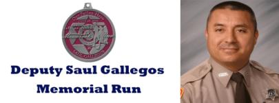 Deputy Saul Gallegos Memorial Run - Virtual Race registration logo
