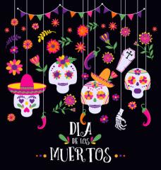 Dia De Los Muertos 5K Color Run registration logo