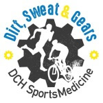 Dirt, Sweat & Gears - DCH SportsMedicine Trail Duathlon registration logo