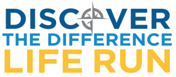 Discover the Difference Life Run registration logo