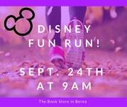 Disney Theme Charity Fun Run/Walk registration logo
