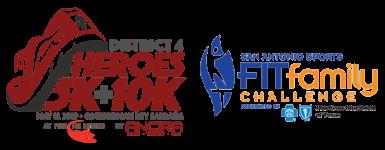 District 4 Heroes 5K & 10K registration logo