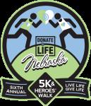 Donate Life Nebraska 5K & Heroes' Walk registration logo