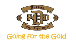 Dothan Fire Department's Going for the Gold registration logo