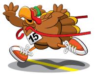 Douglas Run Walk for The Cure Turkey Trot registration logo