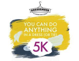 Dressember 5K registration logo