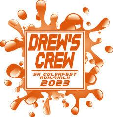 Drew's Crew 5K Colorfest Run registration logo