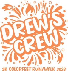 Drew's Crew VIRTUAL 5K Colorfest Run registration logo