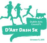 Dublin Arts Council's D'Art Dash 5k registration logo