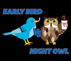 Early Bird VS Night Owl Virtual Race registration logo