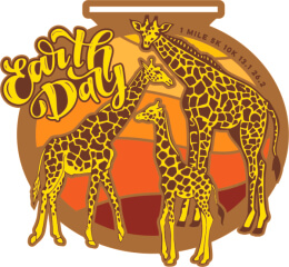 Earth Day 1 Mile 5K 10K 13.1 26.2
