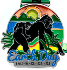 Earth Day 1M 5K 10K 13.1 and 26.2 registration logo