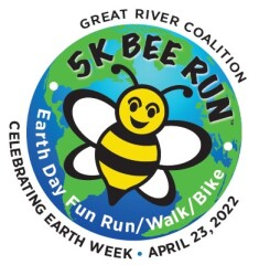 Earth Day 5K Bee Run/Walk registration logo