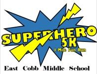 East Cobb Middle School Superhero 5k/1 Mile Fun Run registration logo