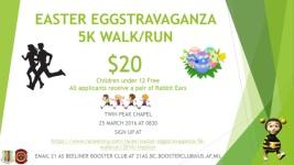 EASTER EGGSTRAVAGANZA 5K WALK/RUN registration logo