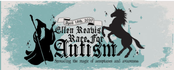 Ellen Reavis Race for Autism registration logo