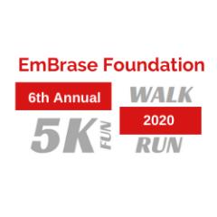 EmBrase Foundation 6th Annual 5K Fun Run/Walk registration logo