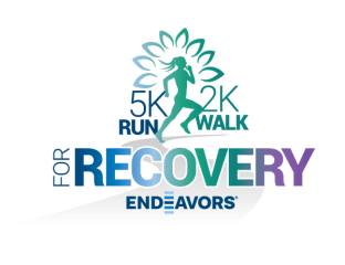 Endeavors Run for Recovery, Walk for Wellness registration logo