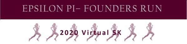 Epsilon Pi Founders Run registration logo