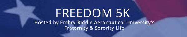 ERAU Freedom 5k registration logo