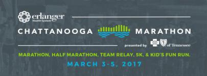 Erlanger Chattanooga Marathon presented by BlueCross BlueShield of Tennessee - Sunday registration logo