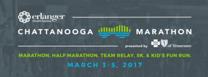 Erlanger Chattanooga Marathon presented by BlueCross BlueShield of Tennessee - Sunday registration logo