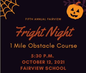 Fairview Fright Night Obstacle Course Run registration logo