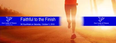 Faithful to the Finish 5K registration logo