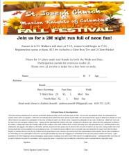Fall Fest 2 Mile Glow Run registration logo