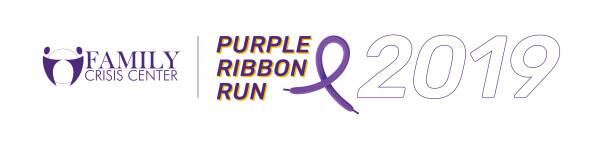 Family Crisis Center Purple Ribbon Run registration logo