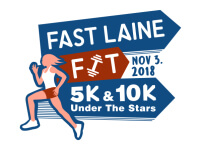 Fast Laine Fit 5K Under the Stars registration logo