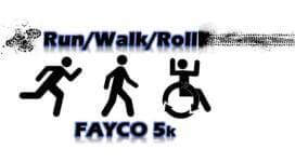 FAYCO 5k Run/Walk/Roll registration logo