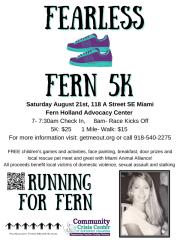 Fearless Fern 5K & 1-Mile Walk registration logo