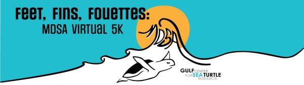 Feet, Fins, and Fouettes'  Virtual 5K registration logo