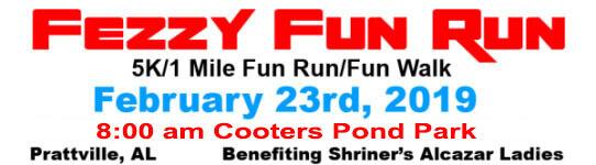 Fezzy Fun Run registration logo