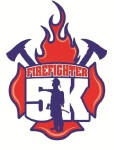 Firefighter 5k run/walk registration logo
