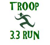 First Annual Troop 33 3.3 Mile Run/Walk registration logo