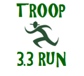 First Annual Troop 33 3.3 Mile Run/Walk registration logo