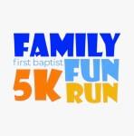 First Baptist Church Family Fun Run 5K registration logo