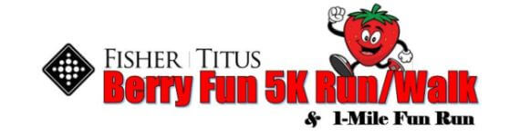Fisher-Titus Berry Fun 5K Run/Walk registration logo
