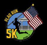Flag Run 5k registration logo