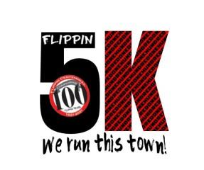 Flippin's 100th Anniversary 5k registration logo