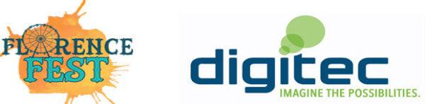 Florence Fest Veteran's 5K sponsored by Digitec registration logo