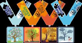 Four Seasons, Four Miles - Spring, Summer, Winter, Fall registration logo