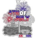 Fourth of July 5K & 10K registration logo